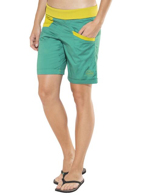 La Sportiva Ramp Naiset Lyhyet housut , keltainen/vihreä